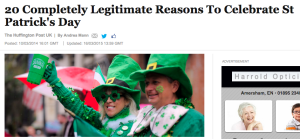 20 reasons to celebrate St Patrick's Day