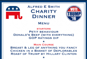Trump Clinton spoof dinner menu