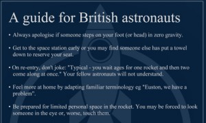 A guide for British astronauts